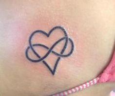 Infinity and heart tattoo... love this! (with red or pink heart and black infinity symbol)