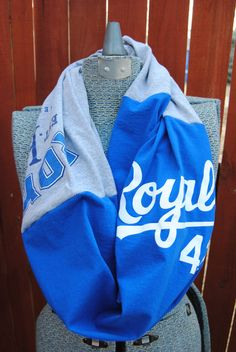Kansas City Royals Upcycled TShirt Infinity by SeasonedWithStyle, $14.50