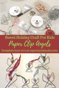 Paper Clip Angels: Sweet, Easy Holiday Craft for Kids