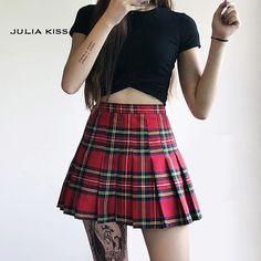 Women Preppy Style Check Pleated Skirts with Safety Shorts Plaid Mini Skirts High Waist Pleated Skirt Preppy Mode, Preppy Style, Plaid Mini Skirt, Mini Skirts, Pleated Skirts, Metallic Skirt, Cheap Skirts, Skirt Fashion, Plaid Fashion