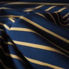 Navy Yarn Dyed Loopback Cotton Jersey Fabric - Guthrie & Ghani Navy, Fabric, Cotton, Hale Navy, Tejido, Tela, Cloths, Old Navy, Fabrics