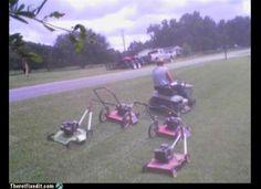 Who needs a five lane mower?