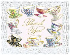 Carol Wilson Stationery Tea Cup Boxed Thank You Notes