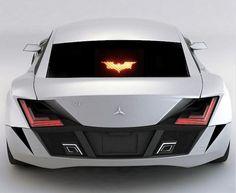 Batman Brake Decal, $10.89...More info: http://www.realcoolgadgets.com/batman-brake-light-cover/  #batman #car #brake #decal