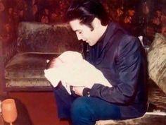 Elvis with baby Lisa Marie