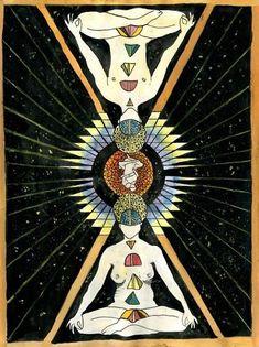 Tao Tantra Inner Alchemy Series: The Microcosmic Orbit - Splash Tantra, Religion, Esoteric Art, Tarot, Visionary Art, Psychedelic Art, Sacred Geometry, Alchemy, Occult