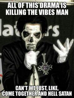 Papa Emeritus meme Ghost bc
