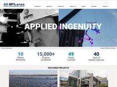 Website design for McLaren Engineering Group. Content by Violet PR, built by Arturan