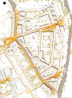The Old Town in Stargard Szczeciński-task 1 Urban Design Concept, Urban Design Diagram, Urban Design Plan, Architecture Concept Drawings, Architecture Graphics, Architecture Portfolio, Architecture Diagrams, Presentation Board Design, Architecture Presentation Board
