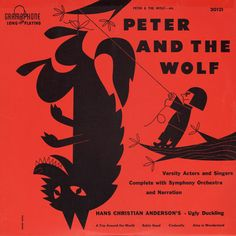 Vintage Peter and The Wolf album classical album artwork