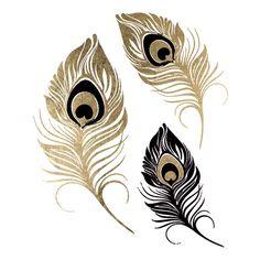 Metallic Peacock Feathers