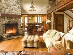 Panther-Grt-Rm-Fireplace Adirondack Design Architecture Rhinebeck, NY - love the fireplace