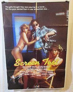 Screen Test Original 1985 Movie Poster Michael Allan Bloom Robert Bundy