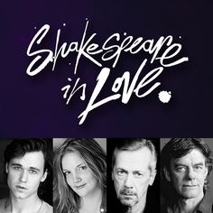 Some of the cast in #sfShakespeareInLove! From left: Luke Humphrey as Will Shakespeare, Shannon Taylor as Viola de Lesseps, Tom McCamus as Fennyman and Stephen Ouimette as Henslowe.