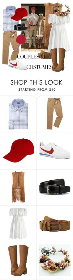 """Couples Costume: Forest Gump&Jenny"" by aspinall-moira ❤ liked on Polyvore featuring Izod, Polo Ralph Lauren, NIKE, Monsoon, Tod's, Chicwish, Amsterdam Heritage, Teva and couplescostume"