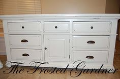 The Frosted Gardner: The Cutler Dresser Set Part 2 - Custom Refinish Before & After