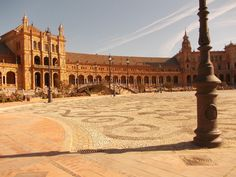 Plaza de España - a must-see in Seville! P.S. The Plaza had a small role in... Star Wars! Natalie Portman strolled through this place :)  http://www.roomsevilla.com