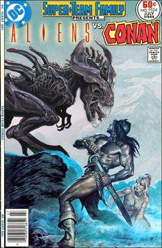 Super-Team Family: The Lost Issues!: Aliens Vs. Conan