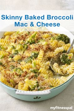 Indulge in a healthy spin on the ultimate comfort food with this Skinny Baked Broccoli Mac & Cheese recipe from @skinnytaste.