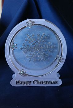 Tattered Lace Snowglobe and Snowflake card