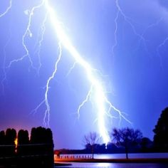 Lightning strike during a Spring storm in Oshkosh, WI.  Of course I can't recall the photographer of this awesome pic, but to whomever - GREAT JOB!