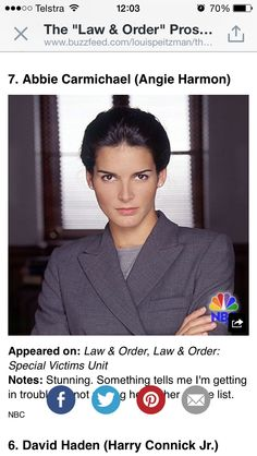 Law and order: Angie Harmon