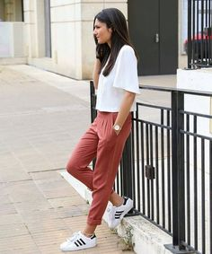 HOW CUTE  Laid back, but ready to slay in a white tee. Love it! Looks super chic. enjoy moments & take it easy at anotherloveclothing.com