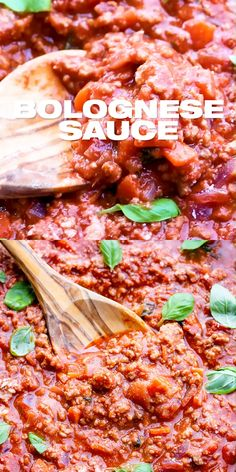 Bolognese Sauce Recipe - Easy one pot Italian meat ragu sauce for spaghetti pasta lasagna and more Prepared with tomato sauce ground beef wine and seasonings topped with Parmesan Classic international homemade weeknight dinner meal Beef Bolognese Recipe, Homemade Bolognese Sauce, Homemade Tomato Sauce, Homemade Pasta, Recipe For Tomato Sauce, Spaghetti Bolognese, Beef Sauce, Meat Sauce Recipes, Beef Recipes