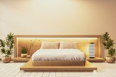 Japanese Style Bedroom, Japanese Interior Design, Bed Design, House Design, Japan Interior, House Inside, Bed Styling, Dream Bedroom, Zen Style
