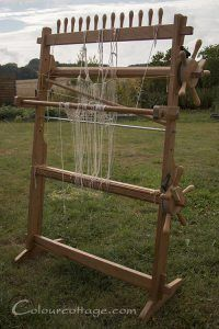 Glimakra Tapestry Loom--pegs for bout warping