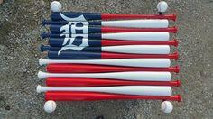 baseball bat flag .. wall mount