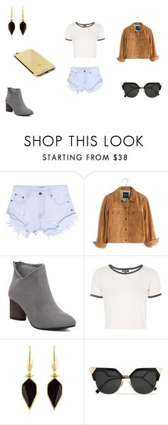 """""""Wild"""" by lilymadoxx on Polyvore featuring OneTeaspoon, Madewell, Topshop, Isabel Marant, Fendi and Goldgenie"""