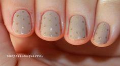 17 Minimalist Nail Designs - Subtle polka dots.