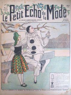 ART Deco French Fashion Magazine Pierrot Arlequin LE Petit Echo DE LA Mode 1930 | eBay