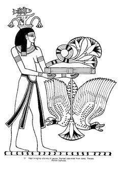Hâpy, la personnification de la rivière Nil, à colorier.