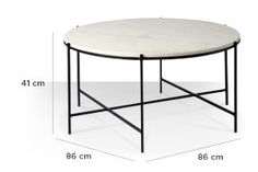 Swoon Editions Coffee table, contemporary-style in marble and iron - £199