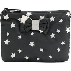 Sonia By Sonia Rykiel star print make up bag ($150) ❤ liked on Polyvore featuring beauty products, beauty accessories, bags & cases, black, makeup purse, travel kit, sonia by sonia rykiel, make up purse and toiletry bag