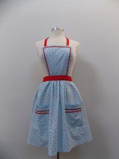 Betsy Rae Retro Apron – Retro Aprons By Violet Jones Vintage Retro Apron, Aprons, Handmade, Vintage, Fashion, Moda, Fashion Styles, Craft, Vintage Comics