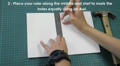 A step-by-step guide to creating your own text block with the Long-stitch book binding technique.  - Marking Guides - Folding Signatures - Binding to create a Text Block  Music: In My Life by The Beatles, played by Dietmar Hermkes