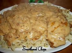 I just love anything made with onion.this recipe is no exception.the more the merrier. The creamy, flavorful sauce, could be eaten over mashed potatoes, noodles or rice.my kids wanted noodles. I (Crockpot Recipes For Kids) Crock Pot Slow Cooker, Crock Pot Cooking, Slow Cooker Recipes, Crockpot Recipes, Cooking Recipes, Healthy Recipes, Skinny Recipes, Easy Recipes, Delicious Recipes