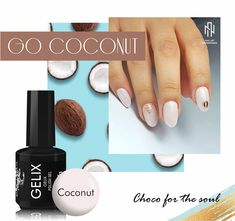 Manicure, Nails, Coconut, Tropical, Beauty, Nail Bar, Finger Nails, Ongles, Nail Manicure