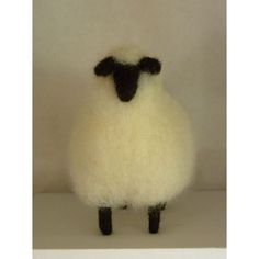 Wooly needle felted sheep