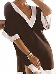 Brown and white fashion beach clothes deep v-neck sexy swimsuit cover ... – EUR € 10.70