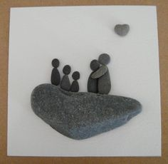 Beach Grass — Pebble Family Art Collage