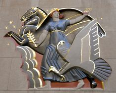 greek gods deco nyc | bas-relief is artwork that's carved into the building