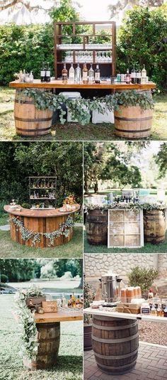 idées de station de boisson de mariage en plein air automne rustique,  #automne #boisson #idees #mariage #plein #rustique #station
