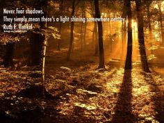Never fear shadows....