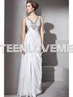 Grey Satin Evening Dresses Fancy Wrinkle Floor Length Sleeveless Design - Evening Dresses - Special Occasions