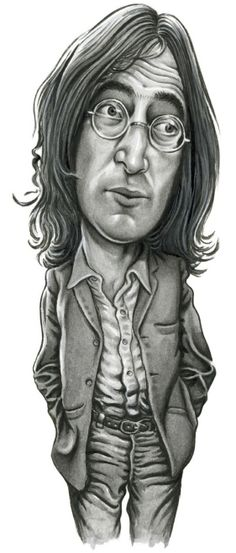 Absolute Elsewhere The Words of John Lennon Cartoon People, Cartoon Faces, Cartoon Styles, Cartoon Art, Funny Caricatures, Celebrity Caricatures, Celebrity Drawings, Les Beatles, Beatles Art