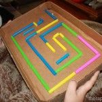 Cardboard Marble Maze from www.therapyfunzone.net - great DIY for visual motor skills
